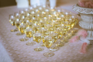 Glasses filled with Prosecco to enjoy on your Cardiff hen party.